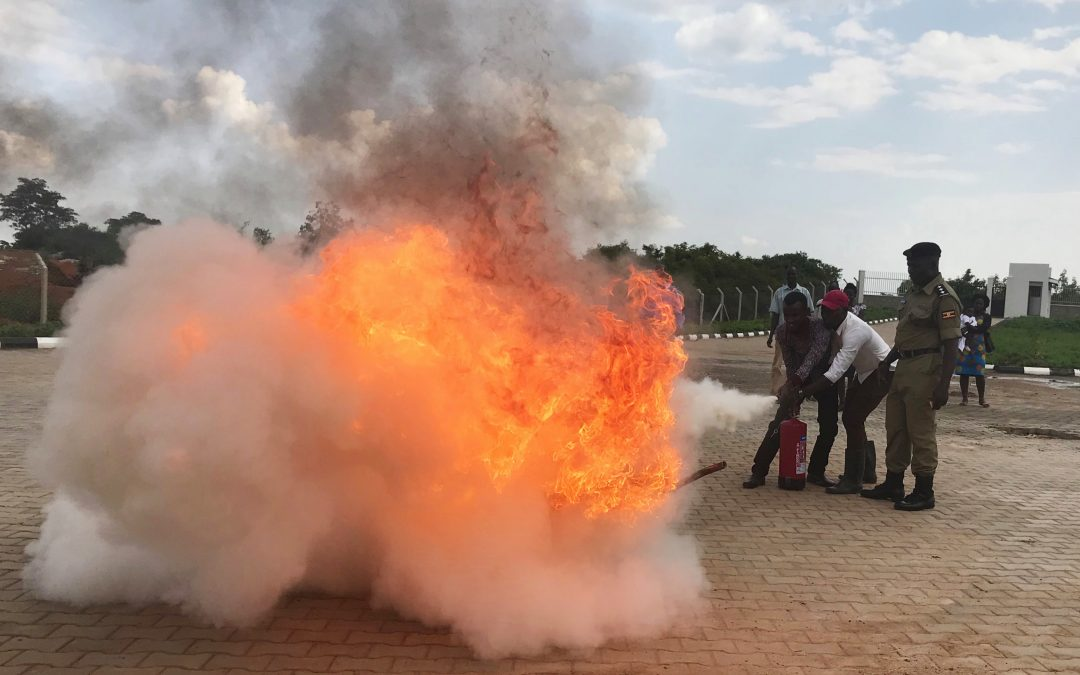 TERREWODE Staff Train In Fire Fighting And Prevention
